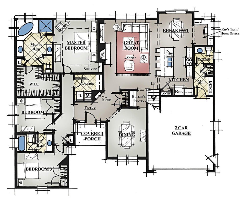 ranch floor plans with bonus room gurus floor
